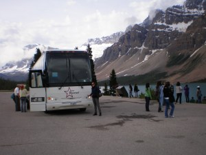 A West Trek bus full of tourist